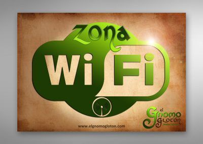 Cartel interno: Wifi